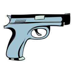 Gun icon cartoon