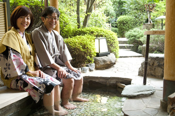 Middle-aged Couple in Spa