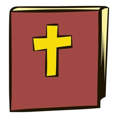 Bible icon cartoon