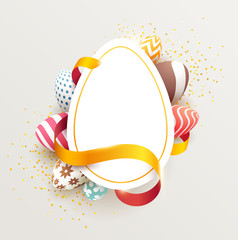 Easter colorful poster with place for text