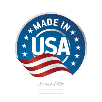 Made in USA label logo stamp certified