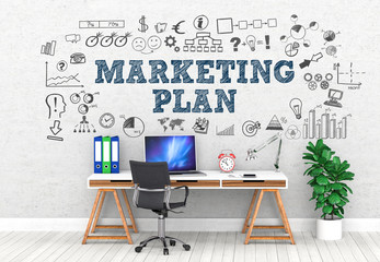 Marketing PLAN / Office / Wall / Symbol
