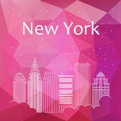 New York for banner, poster, illustration, game, background.