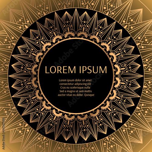 Quot Luxury Frame Design Vector Art Deco Gold Black Pattern