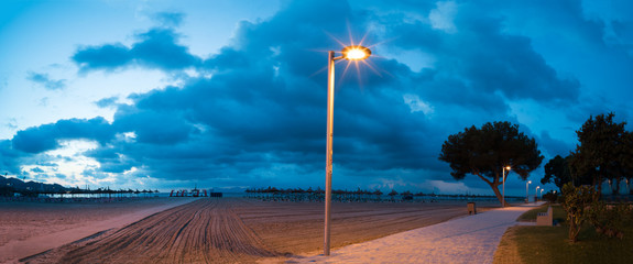 Lamppost at night