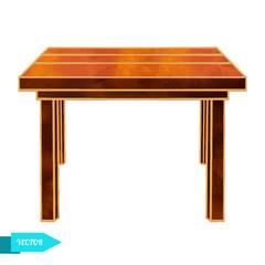 Watercolor wooden vintage table