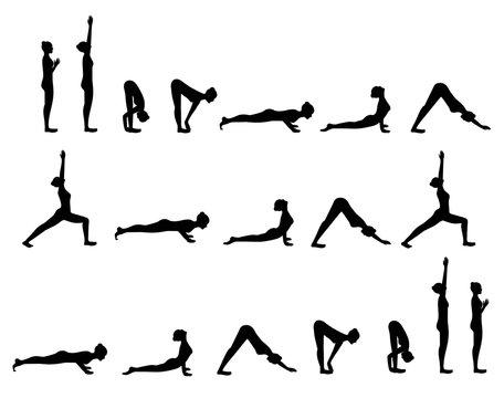 Yoga postures Sun Salutation