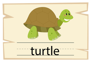 Wordcard template for word turtle