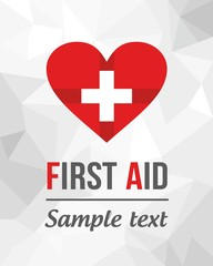 First aid label, health label, graphic elements