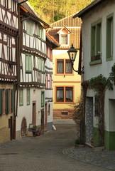 Gerberbachviertel Weinheim im Sonenuntergang