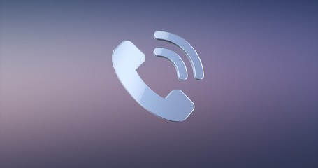 Phone Ring Silver 3d Icon