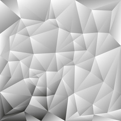 vector abstract irregular polygon background with a triangle pattern in grayscale color - light with dark corner
