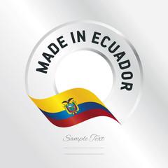 Made in Ecuador transparent logo icon silver background