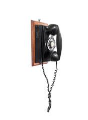 vintage telophone isolated on white background