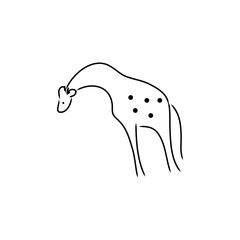 Abstract giraffe from lines on a white background vector