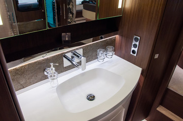 Interior of luxury caravan