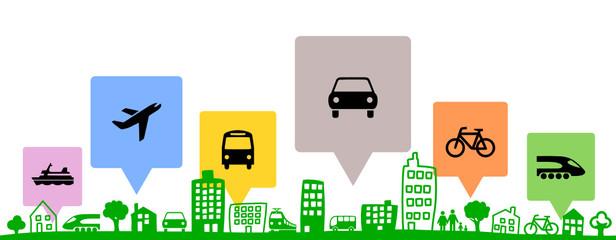 Silhouette Stadt Verkehr