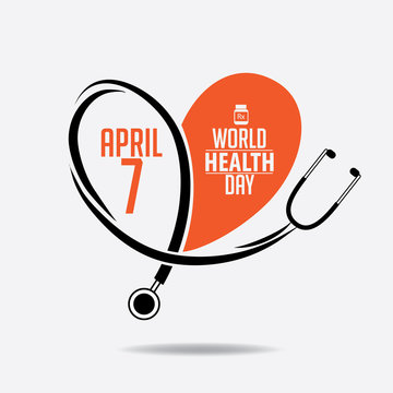 World Health Day design. EPS 10 vector.