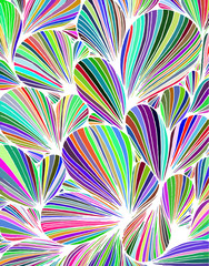 Abstract background is composed of colored petals of flowers.Vector