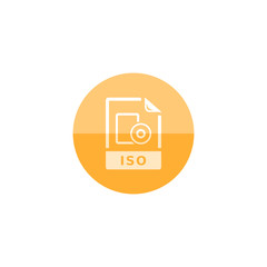 Circle icon - ISO file format