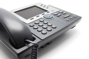 IP Phone (Close-up view from the side)