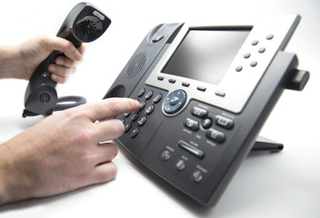 Dialing IP telephone keypad