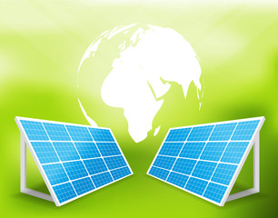 solar energy panels vector illustration