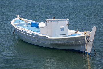 Beautiful traditional fishing boat on the sea