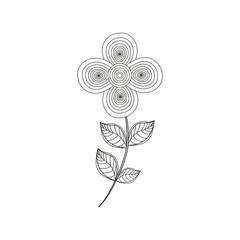 geranium flower decoration line vector illustration eps 10