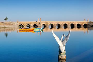 Varzaneh old bridge, Isfahan province, Iran