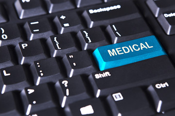 Computer keyboard with medical word