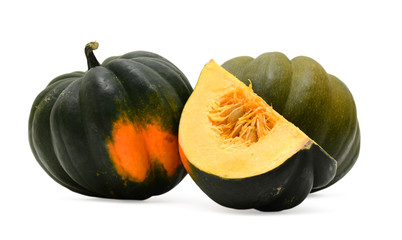 Fresh Acorn Squash Cutout Isolated On White Background