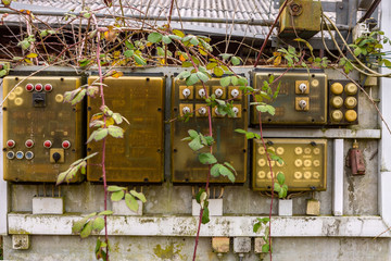 alter verfallener Stromverteiler Elekrtizität