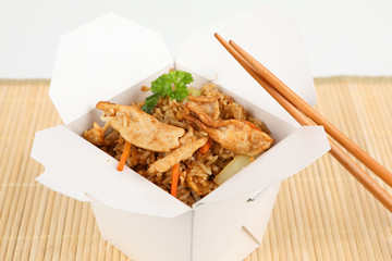 gebratener Reis mit Schweinefleisch
