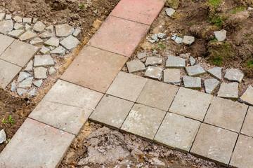Steine verlegen Pflastersteine Betonpflaster