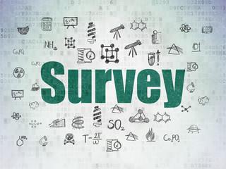Science concept: Survey on Digital Data Paper background