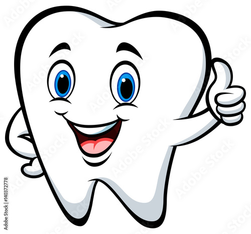 Quot Cartoon Tooth Giving Thumbs Up Quot Stock Image And Royalty