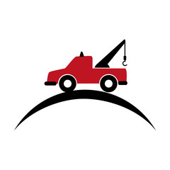 crane truck service icon vector illustration design