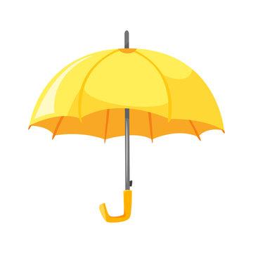 Vector cartoon style illustration of yellow umbrella.