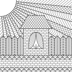 Coloring page book house