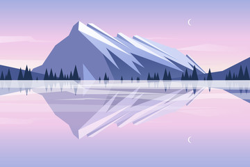 Mountains reflection in the lake