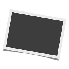 Photo frame with shadow on isolate background, vector illustration EPS10