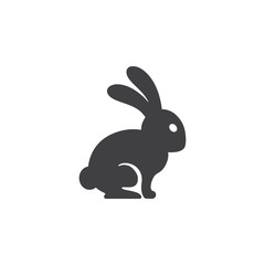 hare icon on the white background