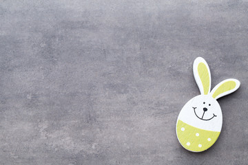 Easter decor on a wooden background. Pattern.