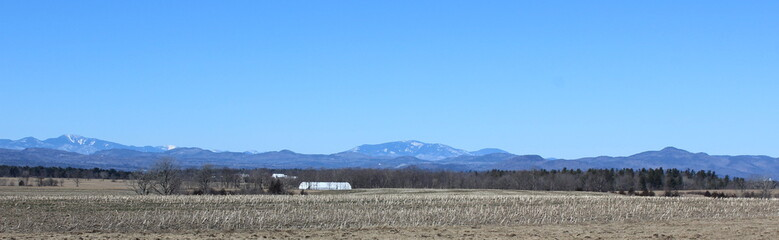 Adirondack Mountains from Vermont