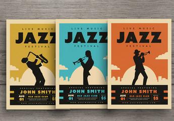 Live Jazz Music Festival Flyer