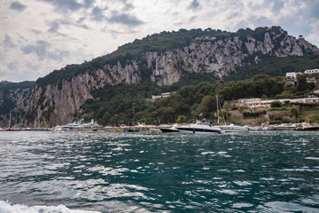 Marina di Capri on a cloudy day
