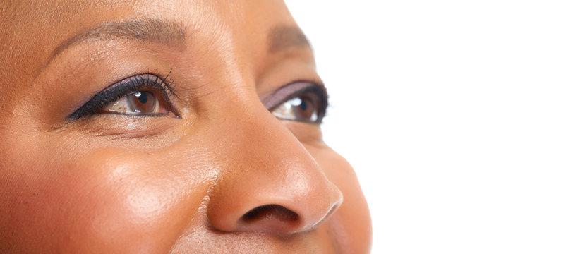 African american woman eye