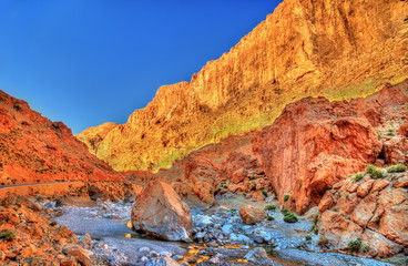 Todgha Gorge, a canyon in the Atlas Mountains. Morocco