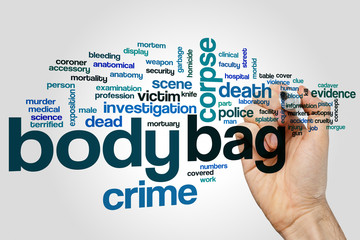 Body bag word cloud